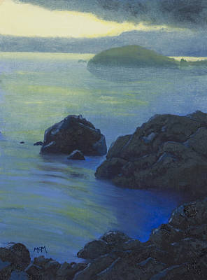 Pacific Sunset Northern California  Art Print by Garry McMichael