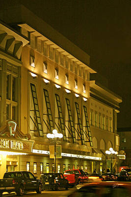 Photograph - Pacific Theatres In San Diego At Night by Ben and Raisa Gertsberg
