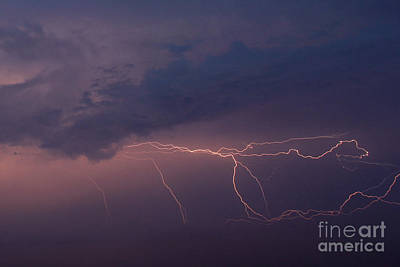 Thunder And Lightning Photograph - Pacific Twilight Storm by Bob Hislop