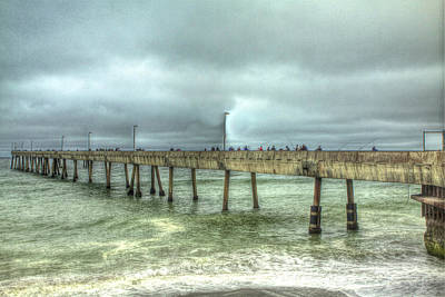 Photograph - Pacifica Municipal Fishing Pier 8 by SC Heffner