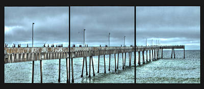 Photograph - Pacifica Municipal Fishing Pier Panel by SC Heffner