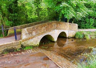 Pack Horse Bridge Art Print