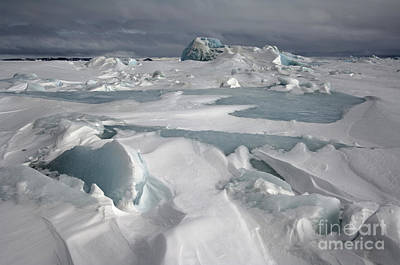 Erebus Photograph - Pack Ice, Antarctica by John Shaw