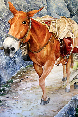 Painting - Pack Mule Two by Lance Wurst