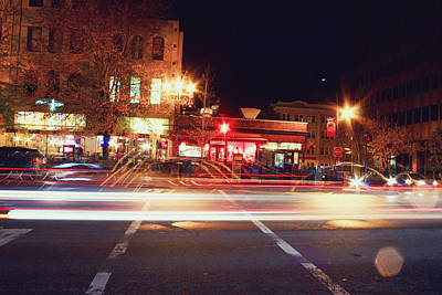 Photograph - Pack Square Asheville Night Scene by Gray  Artus