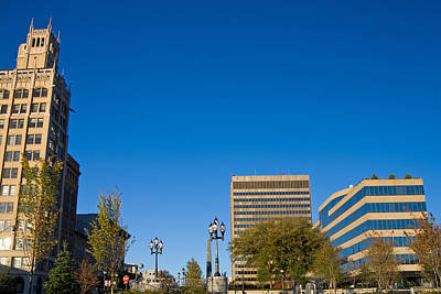 Photograph - Pack Square Downtown Asheville by Melinda Fawver