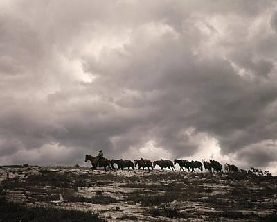 Cowhand Photograph - Pack Train, California Sierra Nevada by Don Lowe