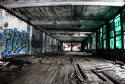 Detroit Abandoned Buildings Photograph - Packard Plant In Detroit by John McGraw