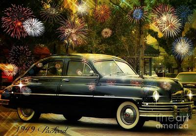 Photograph - Packard Fired Up by Bobbee Rickard