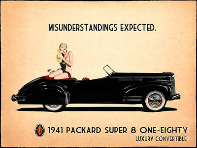 Vintage Female Nudes Painting - Packard Go Topless by Cinema Photography