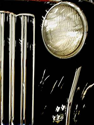 Photograph - Packard Headlight by Randall Weidner