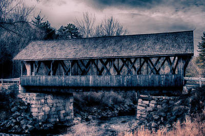 Photograph - Packard Hill Covered Bridge by Jeff Folger