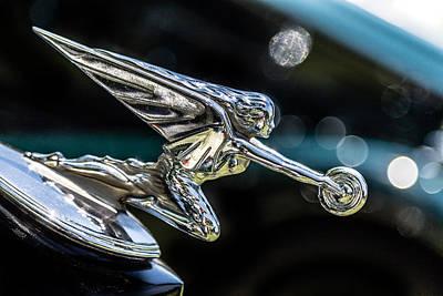 Photograph - Packard Hood Ornament by Karen Saunders