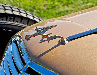 Modern Man Surf Royalty Free Images - Packard Race Car Hood Ornament Royalty-Free Image by Dave Koontz