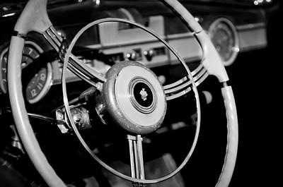 Photograph - Packard Steering Wheel Emblem by Jill Reger
