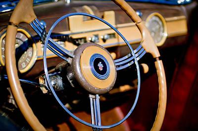 Photograph - Packard Steering Wheel by Jill Reger