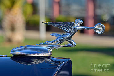 Emblem Photograph - 1933 Packard Super Eight by George Atsametakis