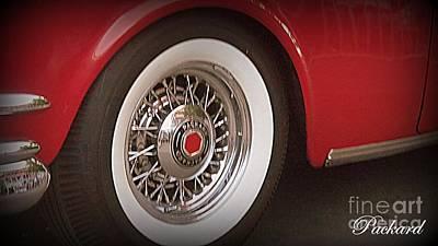Photograph - Packard Wheel by Bobbee Rickard