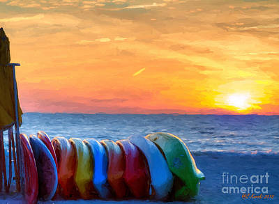 Photograph - Packed Up At Sunset by Sue Karski