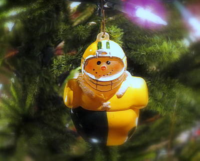 Photograph - Packer Christmas Ornament by Kay Novy