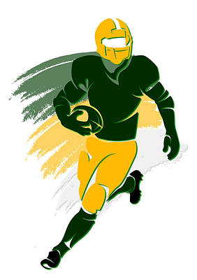 Packers Shadow Player2 Art Print