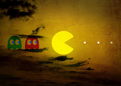 Pacman-scape Art Print by Filippo B