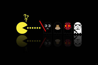 Movie Stars Digital Art - Pacman Star Wars - 2 by NicoWriter
