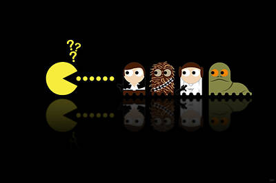 Movie Stars Digital Art - Pacman Star Wars - 4 by NicoWriter