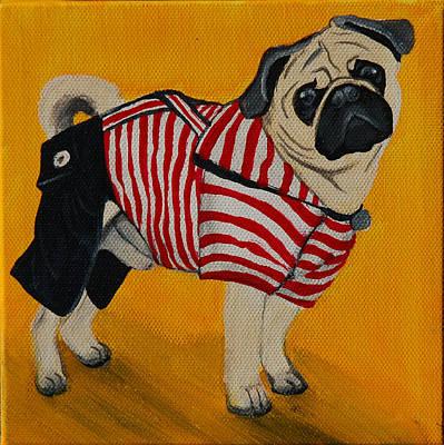 Dog Clothes Painting - Paddington The Pug by Lauren Hammack