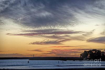Photograph - Paddle Board Sunset by Peggy Hughes