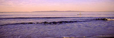 Boarder Photograph - Paddle-boarder In Sea, Santa Rosa by Panoramic Images