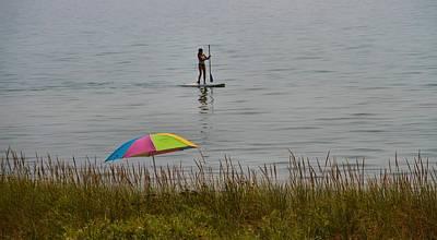 Photograph - Paddle Boarding On Lake Michigan by Dan Sproul