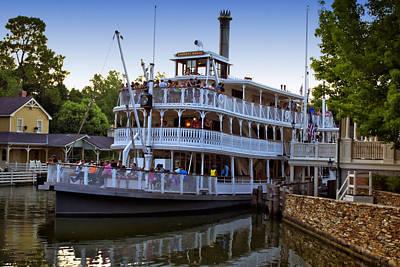 Paddle Boat At Twilight Walt Disney World Art Print