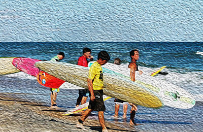 Paddle Out  Art Print by William Love