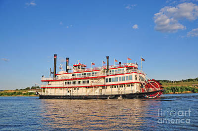 Sidewheelers Photograph - Paddle Wheel Boat by Anne Kitzman