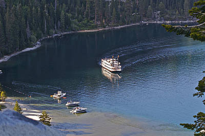 Photograph - Paddle Wheel Emerald Bay by SC Heffner