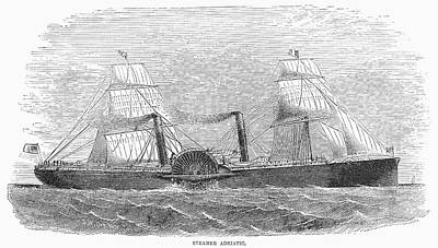 1850s Painting - Paddle Wheel Steamship by Granger
