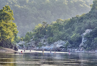 Hiking Photograph - Paddlers On The Potomac by Francis Sullivan