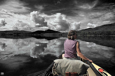 Photograph - Paddling Attean Pond by John Meader