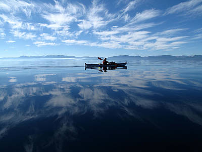 Lake Tahoe Photograph - Paddling In The Clouds by Dianne Phelps