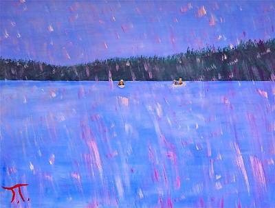 Paddling In The Rain Original by Troy Thomas