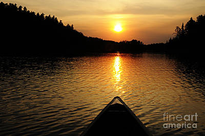 Photograph - Paddling Off Into The Sunset by Larry Ricker