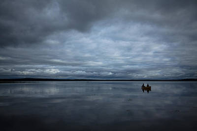 Prince Albert National Park Photograph - Paddling On Clouds by Lori Bote