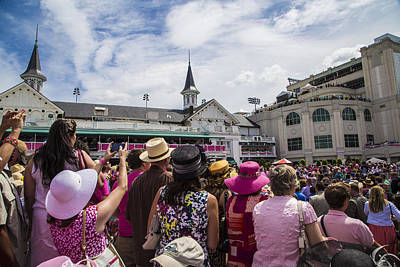 Photograph - Paddock At Churchill Downs On Oaks Day by John McGraw