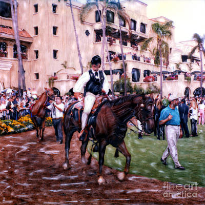 Photograph - Paddock Leader Del Mar by Glenn McNary