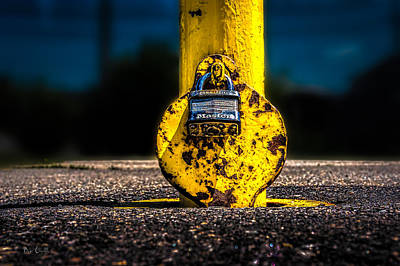 Worn Photograph - Padlock Number Two by Bob Orsillo