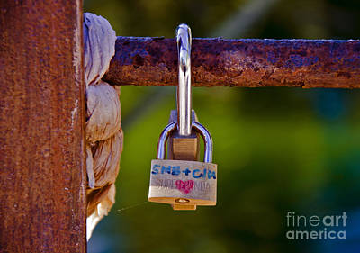 Photograph - Padlock Technology Love  by Victoria Herrera