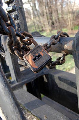 Photograph - Padlock With Chain by Peter Kallai
