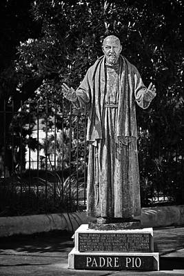 Saints Photograph - Padre Pio - St Louis Cemetery No3 New Orleans by Christine Till