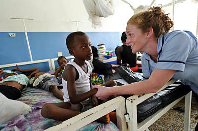 Paediatric Nursing In Sierra Leone Art Print by Matthew Oldfield